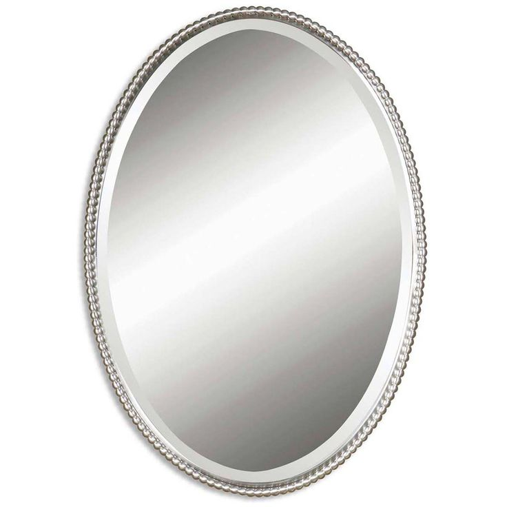 Website With Photo Gallery Uttermost Sherise Brushed Nickel Oval Mirror B