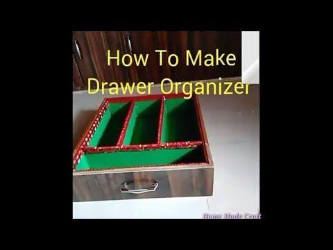 Homemade drawer organizer    Divider    at home    By Shriya Patel - YouTube