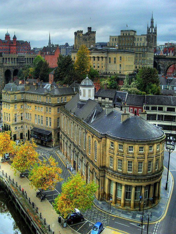 """Newcastle upon Tyne, England  One of my favourite cities, it still  has a """"heart"""", a centre, and the hills give great perspective, so many periods of architecture, really worth spending time in."""