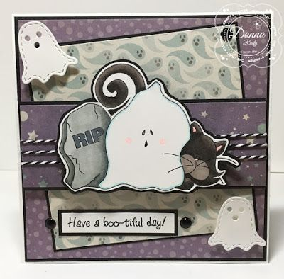 ONECRAZYSTAMPER.COM: Boo-tiful Day by Donna using High Hopes Stamps
