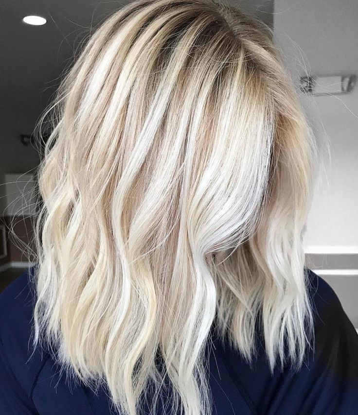 blonde balayage shoulder length hair blonde…