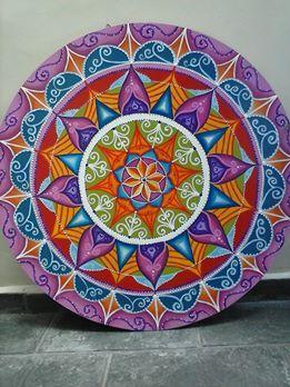 Mandala MDF, 80 dm arte de Rosangela Bavaresco