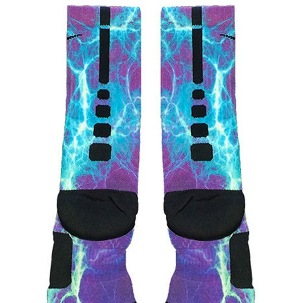 Kaboom Teal Purple Custom Nike Elite Socks