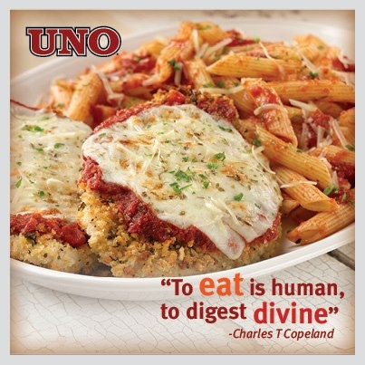Romano-Crusted Chicken Parmesan topped with melted ...