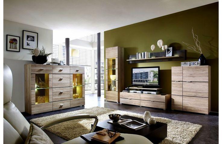 Meuble de salon moderne en bois - Ensemble meuble de salon en bois - Meuble et Canape.com #meubleenbois