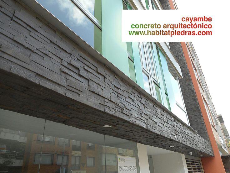 Concreto arquitectónico Referencia Cayambe gris 50x15 $87.000/m2.