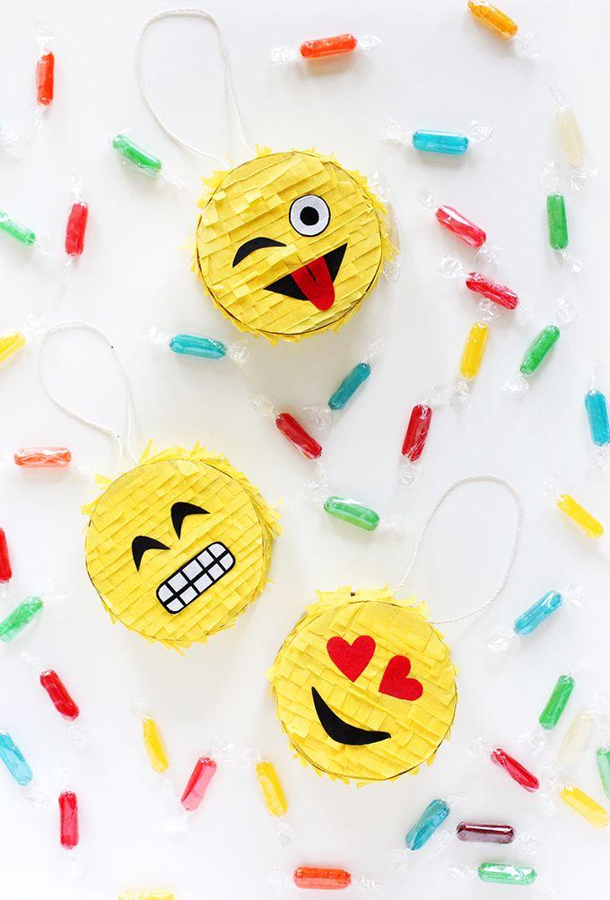 DIY Mini Emoji Piñata