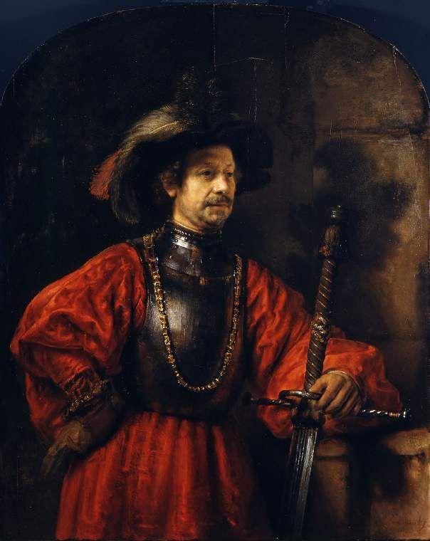 Rembrandt, Portret van een man in een militair uniform, 1650.