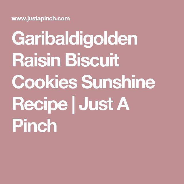 Garibaldigolden Raisin Biscuit Cookies Sunshine Recipe | Just A Pinch