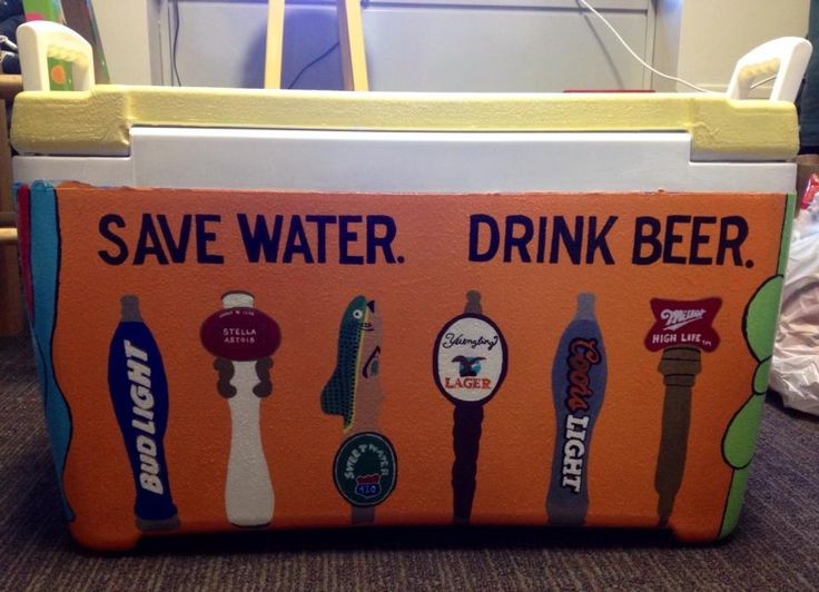 Fraternity Cooler. Beer Taps.