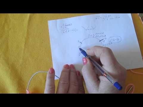 Реглан, вязанный сверху ч 1 (переделанное видео) - YouTube