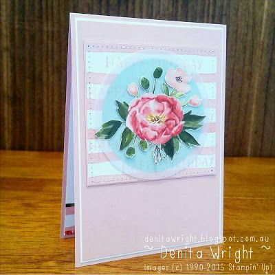 Denita Wright - Independent Stampin' Up! Demonstrator: Birthday Bouquet Sketch Challenge - Global Design Project #gdp018