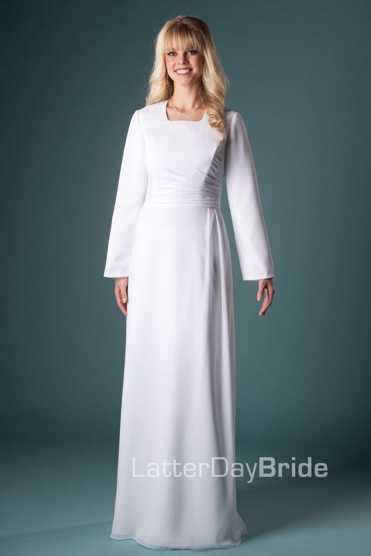 Draper -Modest Mormon LDS Temple Dress