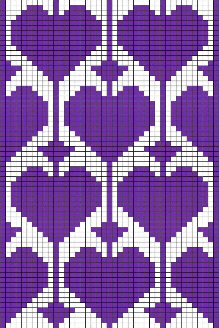 filet crochet with heart motif