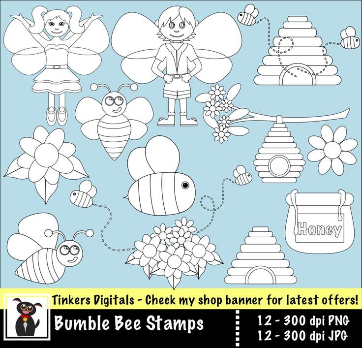 Bumble Bee digital stamps with INSTANT Download. by TinkersDigitals on Etsy https://www.etsy.com/uk/listing/271207638/bumble-bee-digital-stamps-with-instant