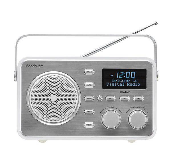 Buy SANDSTROM SDABXRL13 Portable DAB Bluetooth Clock Radio – Silver | Free Delivery | Currys