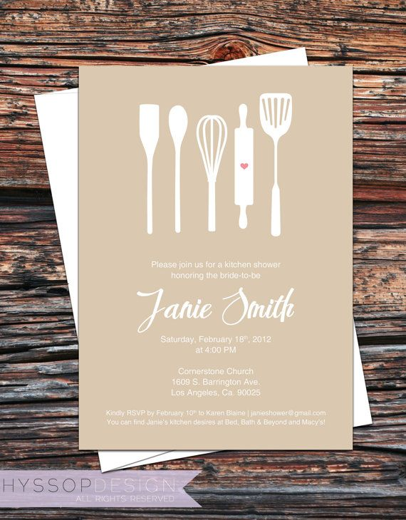 ab423b10a86f0655d71e87b1bb003051 themed bridal showers bridal parties 368 best invite ideas images on pinterest,Kitchen Theme Invitations