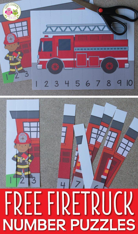 Do You Want 2 Fun Free Fire Truck Printables Community Helpers Math Activities Community Helpers Preschool Fire Safety Preschool [ 1186 x 702 Pixel ]