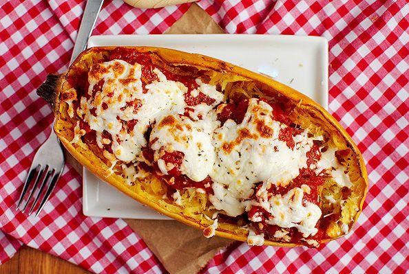 Espagueti (calabaza) con albóndigas | 27 Versiones bajas en carbohidratos de tu comida casera favorita