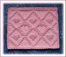 Free Knit Dishcloth Patterns  like this design