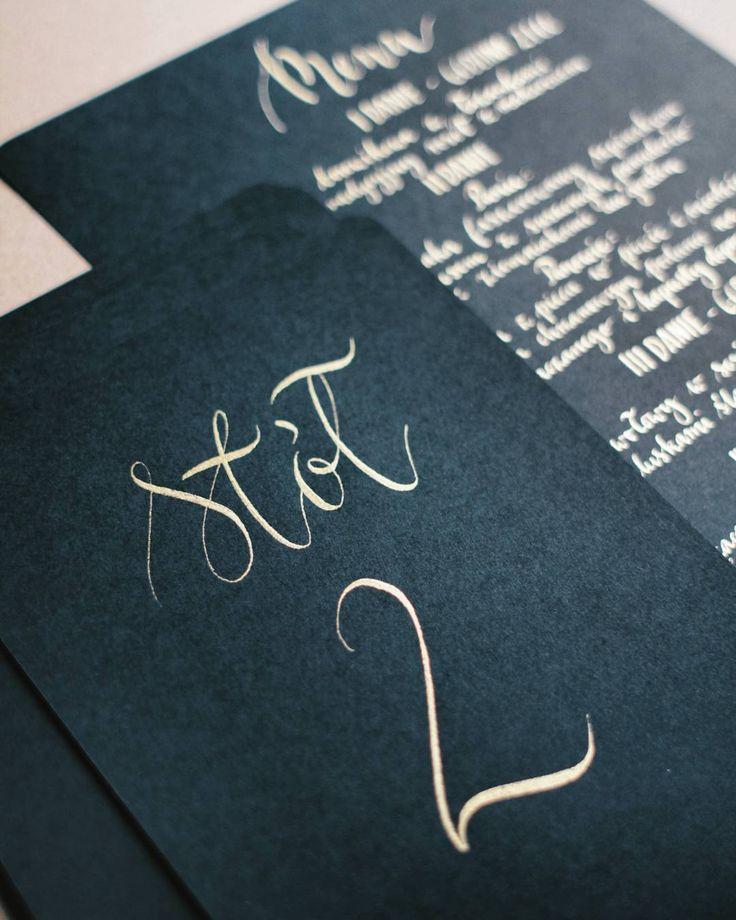 Złotka stołowe #menu #zaproszeniaslubne #papeteriaślubna #pannamloda #slub…