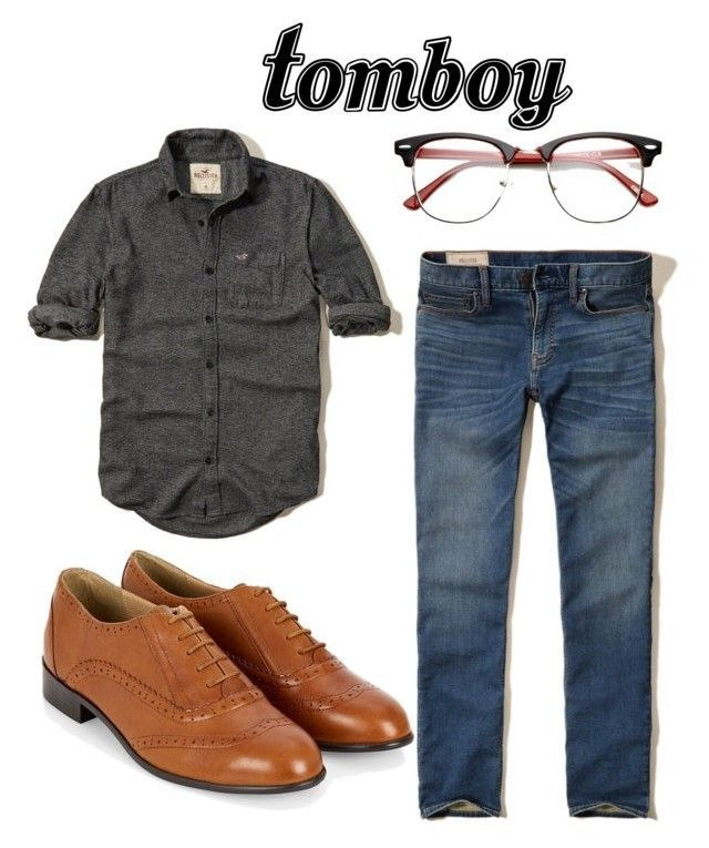 """androgynous style - """"androgynous style"""" by cas-k ❤ liked on Polyvore featuring Hollister Co."""