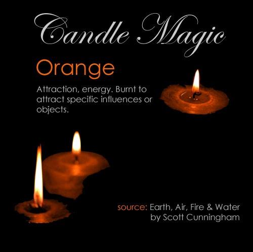 Orange candle #orangecandle #candlemagic