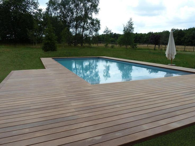 46 best Idée déco piscine images on Pinterest Swimming pools - piscine hors sol beton aspect bois
