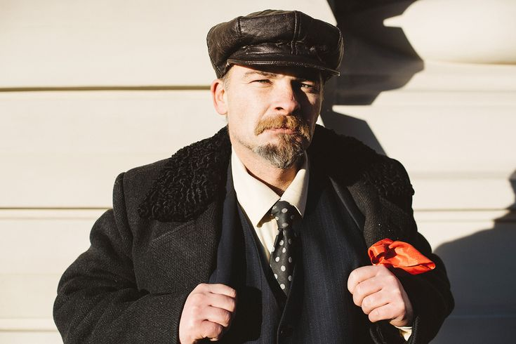 Vladimir Lenin impersonator at the Red Square in Moscow