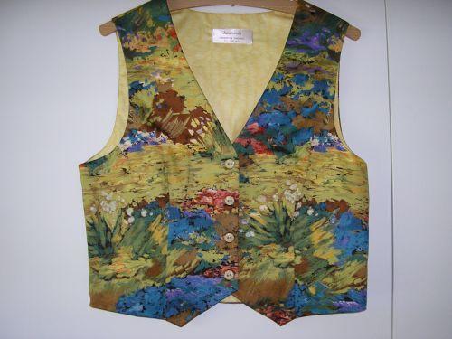 "Monet Waterlilies Waistcoat Gold 10 - 12 (32"" - 34"")  from Jacaranda"