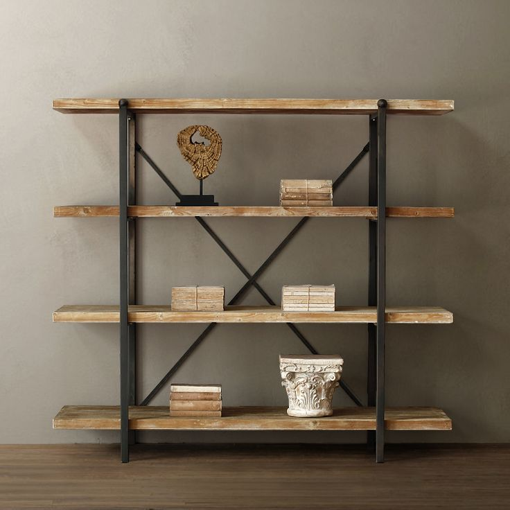 10 id es propos de etagere bois metal sur pinterest. Black Bedroom Furniture Sets. Home Design Ideas