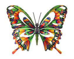 I absolutely love metal butterfly wall art. It is great for gardens, patios and even  indoors in bathrooms, kitchens and hallways.  Additionally, you can use butterfly home wall art décor in your  bedroom. Overall this is beautiful,  color and ever so cute #butterflies #wallart #homedecor      Next Innovations WA3DLBFLYMULTI Butterfly Refraxions 3D Wall Art, Large, Multi