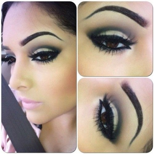 ever wonder how they get this look its called a cut crease you tube it!! i promise this will be ur favorite way to do ur eye shadow, i know its mine!!