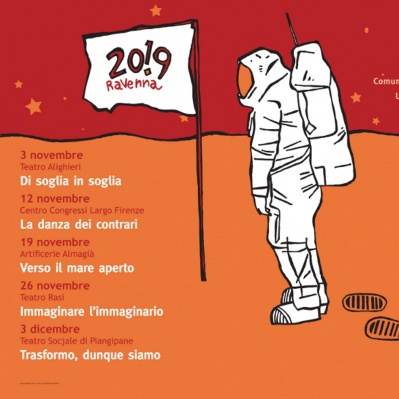 """Disegno per la manifestazione """"5 tracce"""" per la candidatura di Ravenna 2019.  http://www.gianlucacostantini.com/graphic"""