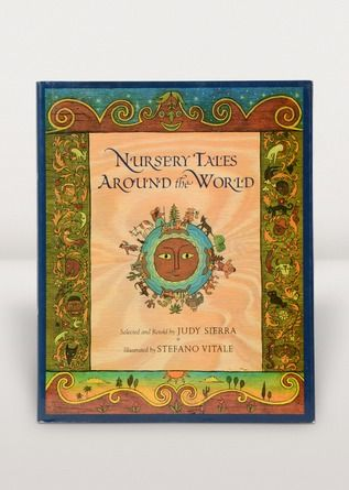 "Discover a storytelling resource that offers a cross-cultural perspective on nursery rhymes! Nursery Tales Around the World, written by Judy Sierra and illustrated by Stefano Vitale, is an international collection of 18 oral tales for children. Uniquely organized according to cross-cutting themes such as ""runaway cookies,"" ""incredible appetites,"" and ""slowpokes and speedsters,"" this book offers a unique way to share traditional and not-so-familiar nursery tales with your children."
