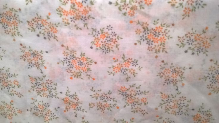 vintage fabric ,lightweight cotton muslin,flower pattern by stitchmilitz on Etsy