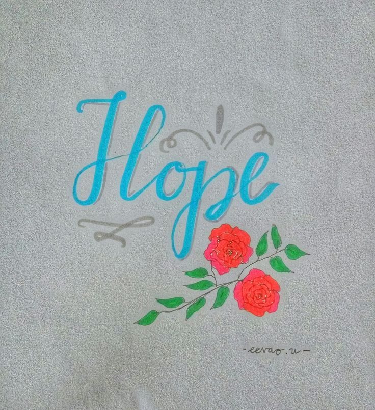 My hope, your hope, our hope