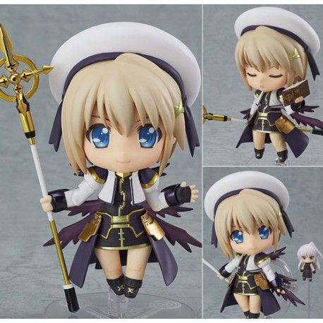 figura nendoroid de Magical Girl Nanoha con accesorios
