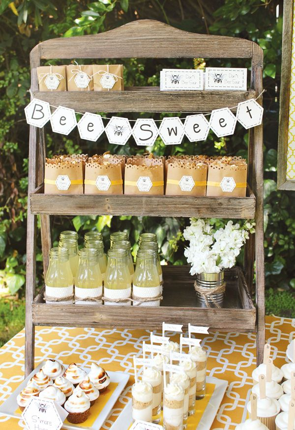 "Bumble bee party via Hostess with the Mostess. Cute ideas for a ""mommy-to-bee"" baby shower!"
