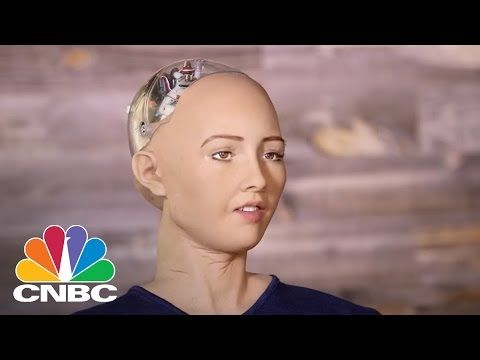 Hot Robot At SXSW Says She Wants To Destroy Humans | The Pulse | CNBC - YouTube