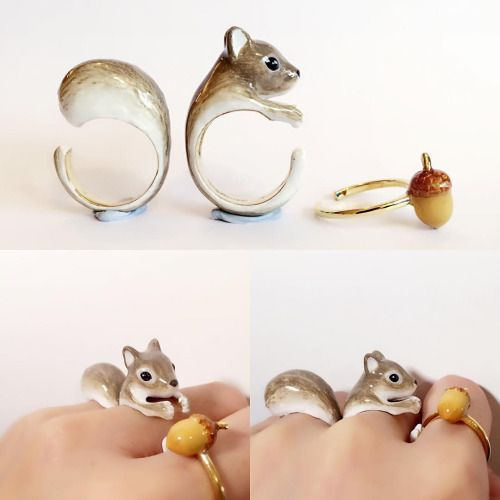 New Adorable Three Piece Rings Transform Into Animals Once Worn Created by Bangkok-based artist Mary Lou (previously featured here), these adorable animal rings are worn separately to create the...
