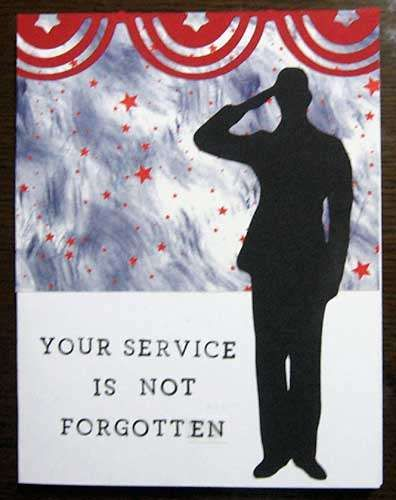 Layout: Veterans Day card