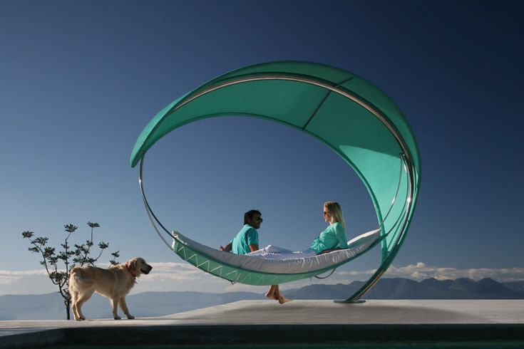 Wave hammock for contemporary living