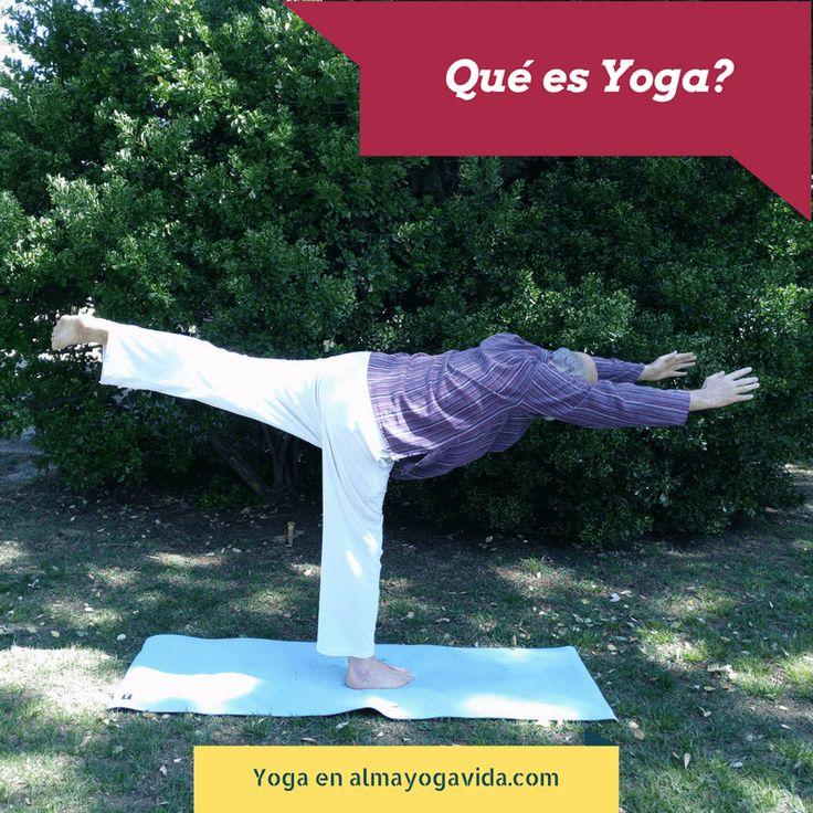 ¿Qué es yoga? http://almayogavida.com/que-es-yoga/ Qué es yoga - para qué utilizo yo hatha yoga en clases particulares?  Cuando trabajo con mis alumnos en clases particulares de yoga utilizo el arsenal del yoga, mi experiencia en su uso y la comprensión que tengo a fecha de hoy para:  - mejorar la calidad de vida de mis alumnos - ayudarles a ser conscientes de lo que hacen y de cómo lo hacen - que usen su cuerpo de una manera amorosa, amable - que amen a si mismos - que sepan vivir…