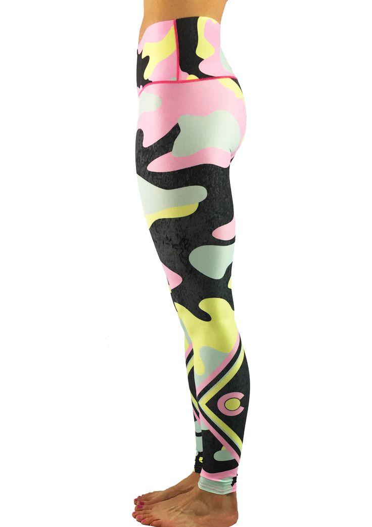 Spring Camo Yoga Pants