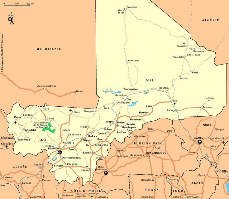 Carte Mali / Plan Mali
