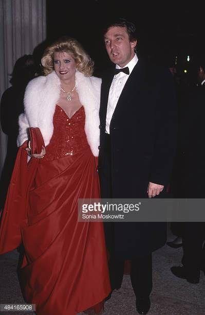 NEW YORK DECEMBER 1986 Ivana Trump and Donald Trump attend the Met Costume Gala December 1986 in New York City
