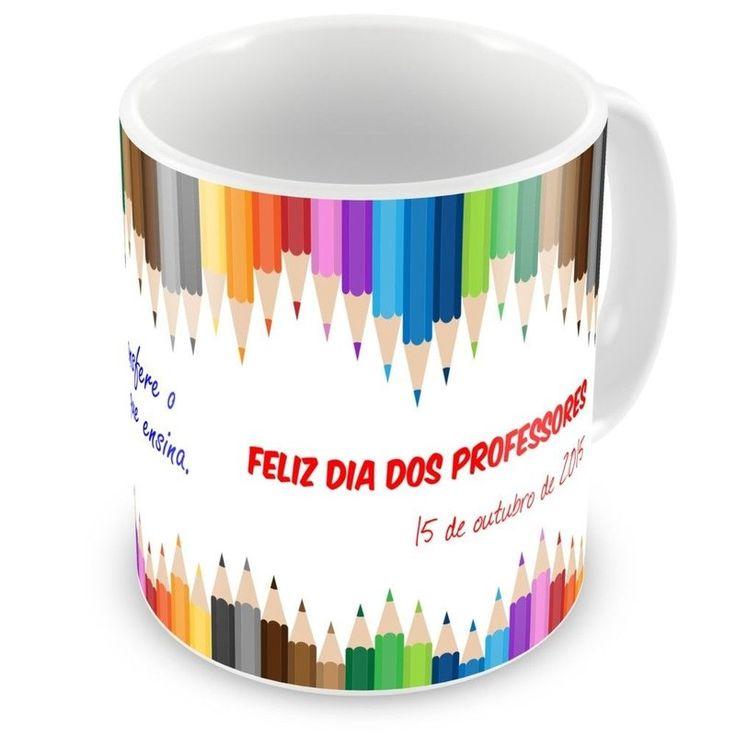 Caneca de Porcelana Dia dos Professores 2015 - ArtePress - Brindes em Almofadas, Canecas, Copos, Squeeze