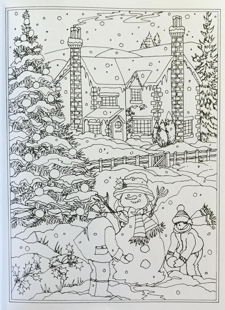 free coloring pages winter wonderland - photo#24
