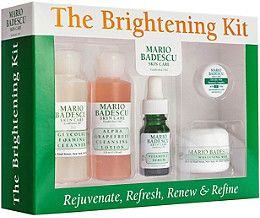 Illuminate your skin by eliminating dark spots and hyperpigmentation with Mario Badescu's Brightening Kit. A $50 Value!